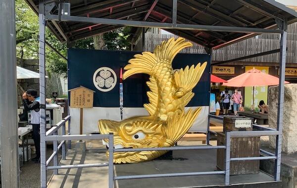 golden Shachihoko, - imaginary dolphin-like fish