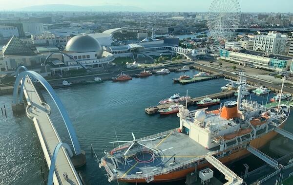 名古屋港ポートビルの展望台からの景色