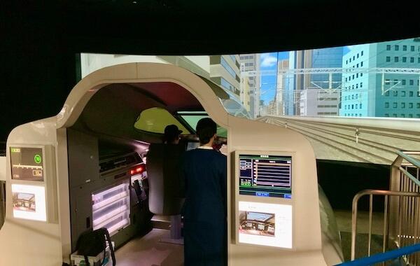 Shinkansen train driving simulator