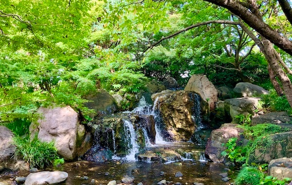 Artificial Hill, Falls, Stream