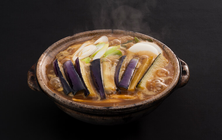 Stewed Curry Udon with Fried Eggplant