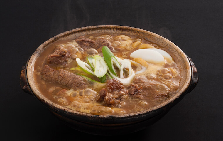Stewed Curry Udon with Beef Steaks Simmered Until Soft