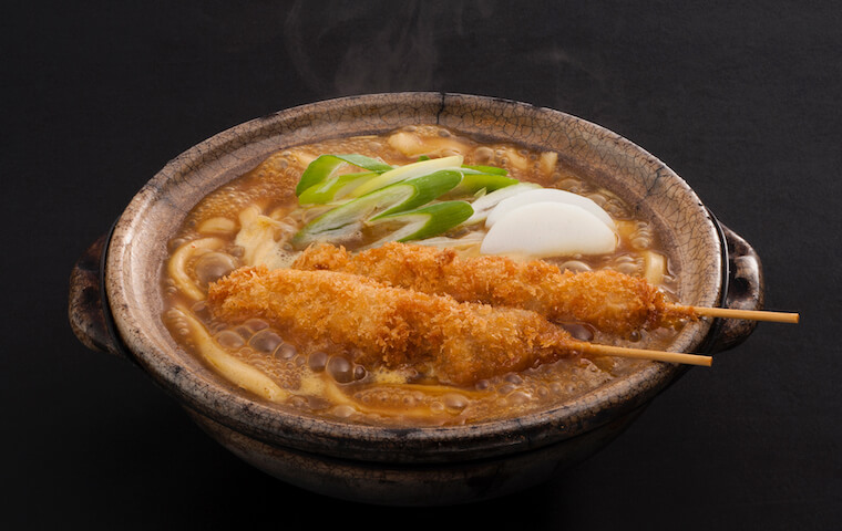 Stewed Curry Udon with Two Pork Skewers