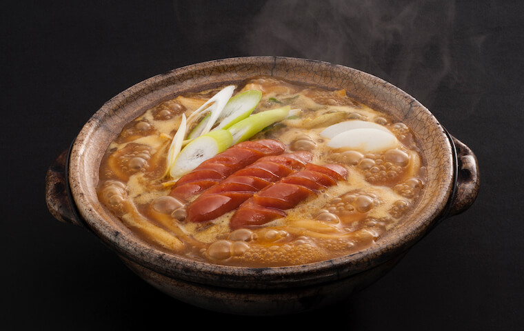 Stewed Curry Udon with Fried Sausage